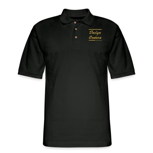 DESIGN COUTURE GOLD - Men's Pique Polo Shirt