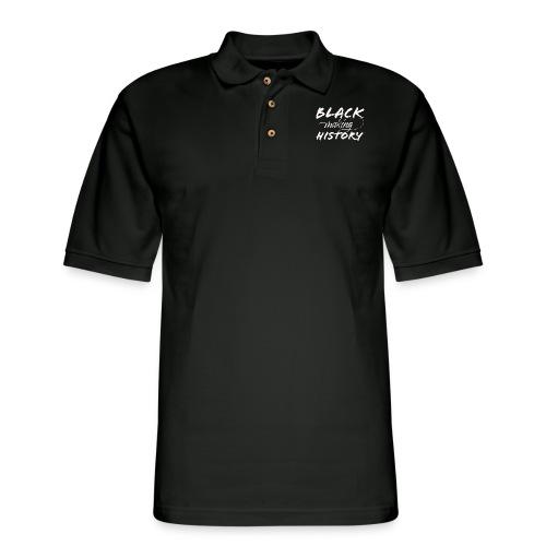 Black Making History - Men's Pique Polo Shirt