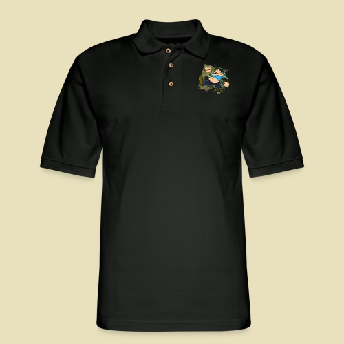 Ongher's UFO Ongher March - Men's Pique Polo Shirt