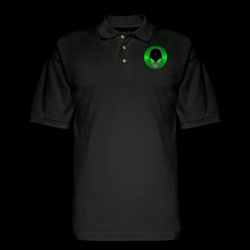 Psychedelic Alien Dolphin Green Cetacean Inspired - Men's Pique Polo Shirt