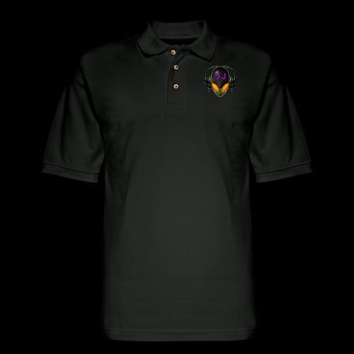 Alien DJ - Orange - Hard Shell Bug - Men's Pique Polo Shirt
