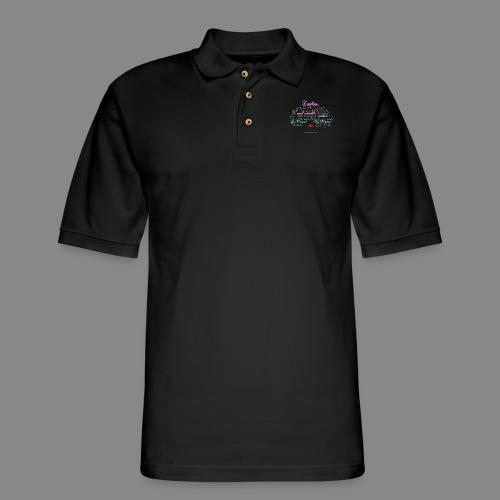 Afro Text - Men's Pique Polo Shirt