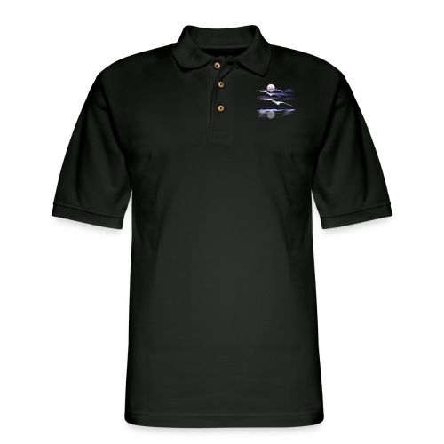 White Gulls - Men's Pique Polo Shirt