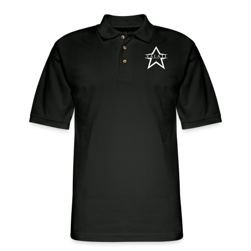 V-Star White - Men's Pique Polo Shirt