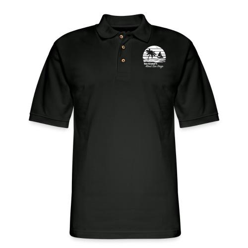 Ken's Awesome Monochrome Logo - Men's Pique Polo Shirt