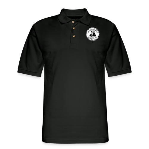 JSCC Logo (White) - Men's Pique Polo Shirt