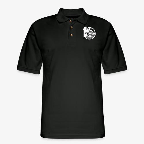 16IMAGING Badge White - Men's Pique Polo Shirt