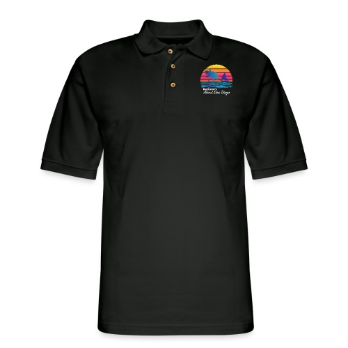 Ken's Exciting Color Logo - Men's Pique Polo Shirt