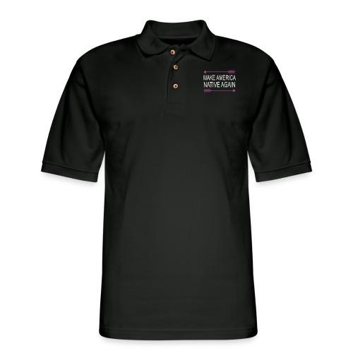 MakeAmericaNativeAgain - Men's Pique Polo Shirt