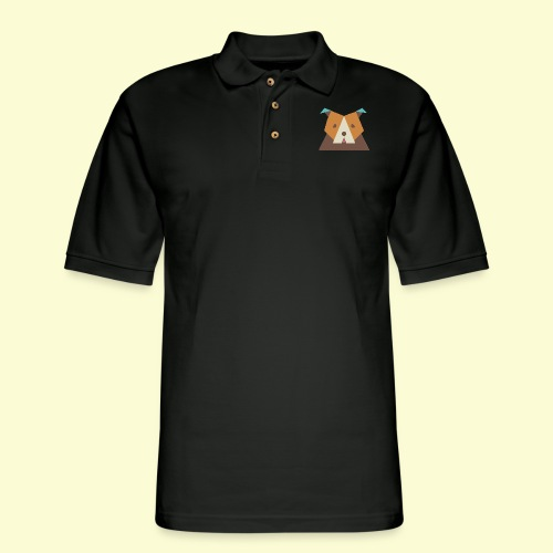 Geometric bulldog - Men's Pique Polo Shirt