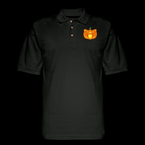 Pumpkin Bear - Men's Pique Polo Shirt