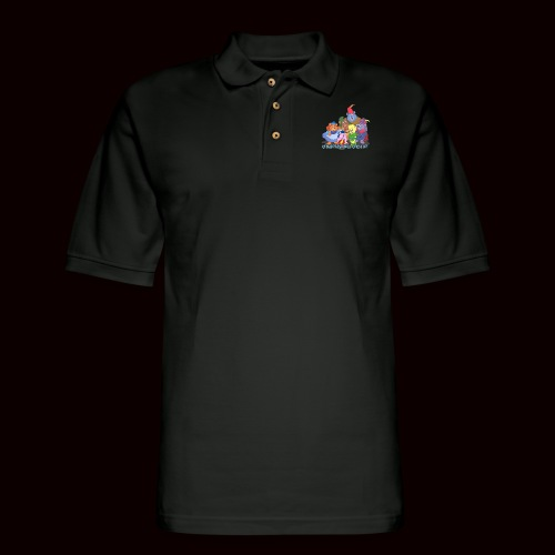 Medieval Bear Shirt - Men's Pique Polo Shirt