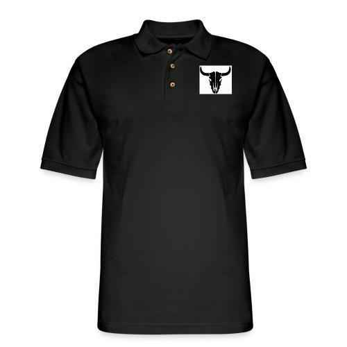 Longhorn skull - Men's Pique Polo Shirt