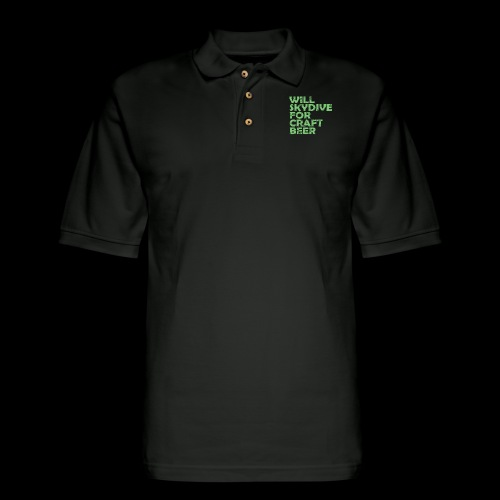 skydive for craft beer - Men's Pique Polo Shirt