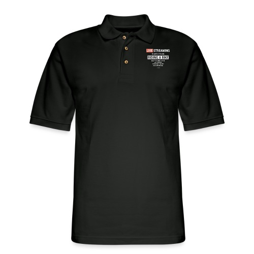 Live Streaming is easy - Men's Pique Polo Shirt