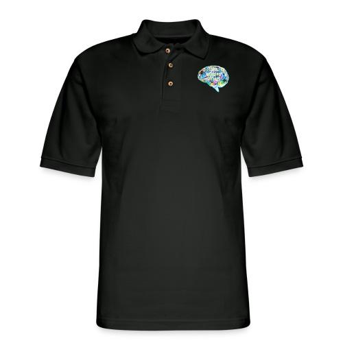 brain fact - Men's Pique Polo Shirt