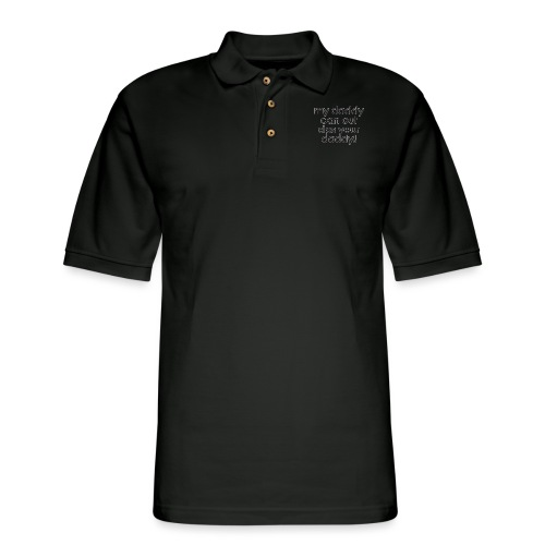 Warcraft baby: My daddy can out dps your daddy - Men's Pique Polo Shirt
