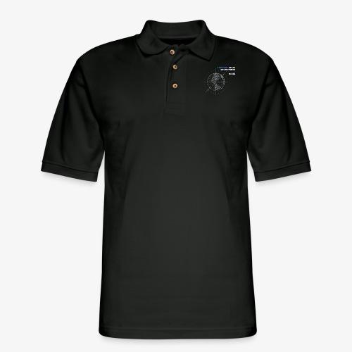 Solar System Scope : I Support Space Development - Men's Pique Polo Shirt