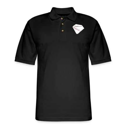 Blood Diamond -white logo - Men's Pique Polo Shirt