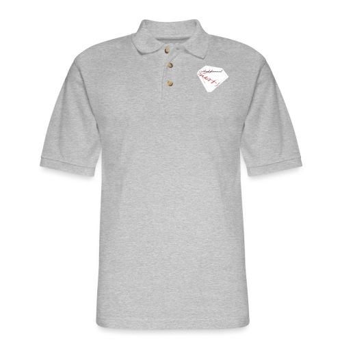 Blood Diamond -white logo - Men's Pique Polo Shirt