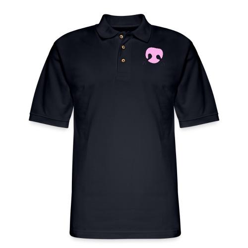 Pink Whimsical Dog Nose - Men's Pique Polo Shirt