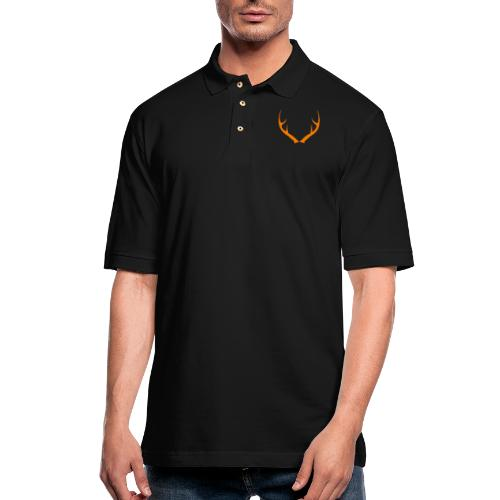 DEER ANTLERS BLAZE - Men's Pique Polo Shirt