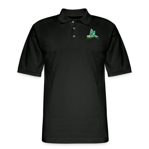 green dragonfly - Men's Pique Polo Shirt
