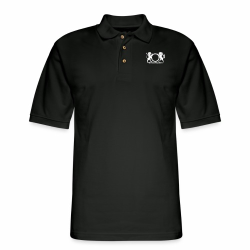 Atheist Republic Logo - White - Men's Pique Polo Shirt