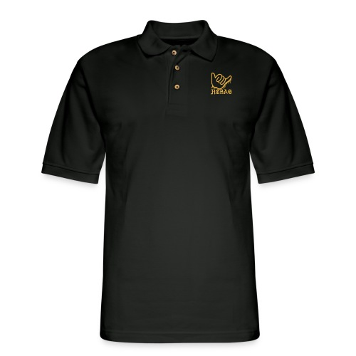 BLACK - HOBAG LOGO - Men's Pique Polo Shirt