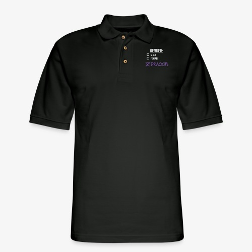 Gender: Dragon! - Men's Pique Polo Shirt