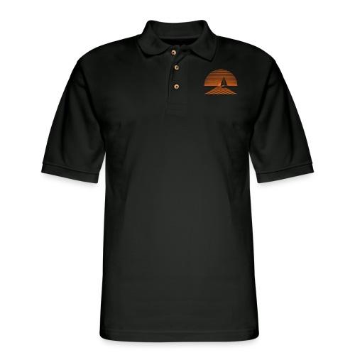 Sunset Sailboat - Men's Pique Polo Shirt
