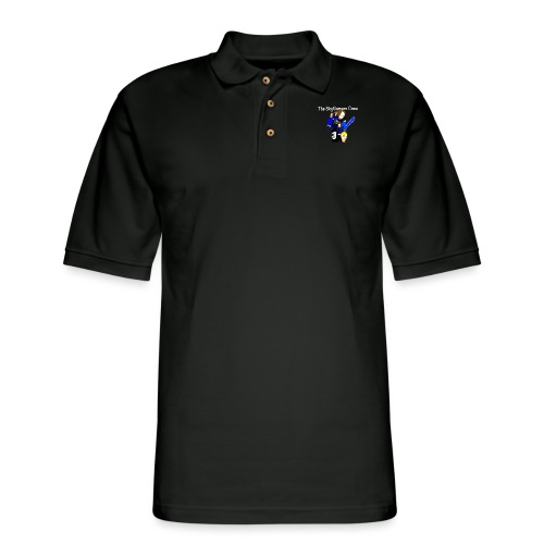 THE SKYGAMERS CREW HOODIE NEON BLUE - Men's Pique Polo Shirt