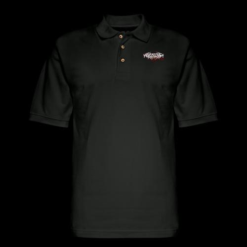 Supercool! Logo REVAMPIRED [BLOODY WHITE] - Men's Pique Polo Shirt