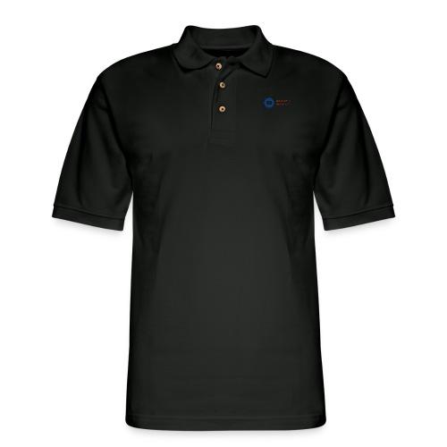 boss logo with red text - Men's Pique Polo Shirt