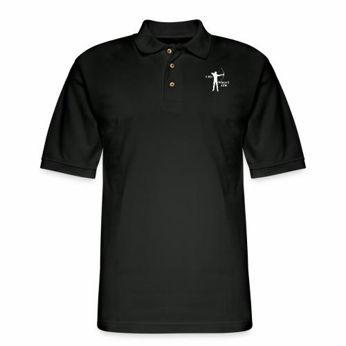 I Hit Where I AIM 1 - Men's Pique Polo Shirt