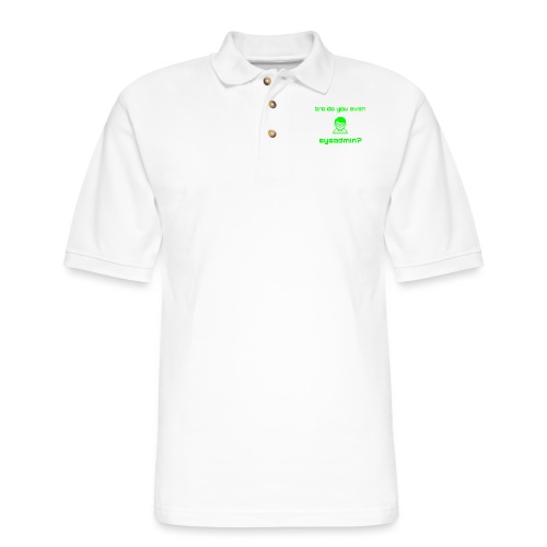 Bro Do You Even Sysadmin? - Men's Pique Polo Shirt