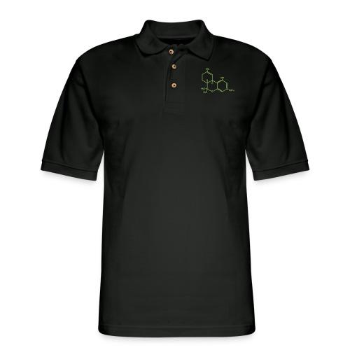 Marijuana (THC) Molecule - Men's Pique Polo Shirt
