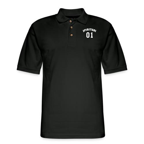 Spiritual 01 - Team Design (White Letters) - Men's Pique Polo Shirt