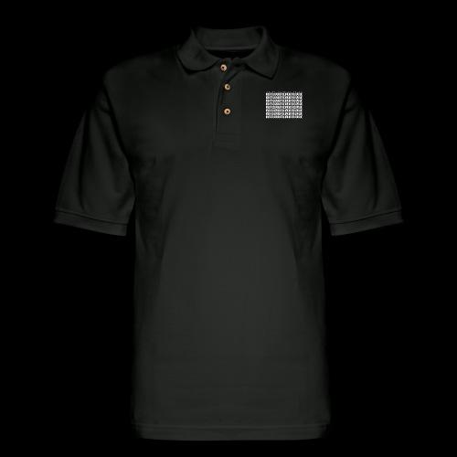 Block Grid WHITE - Men's Pique Polo Shirt