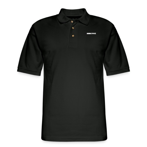 White Jakhia Spikes - Men's Pique Polo Shirt