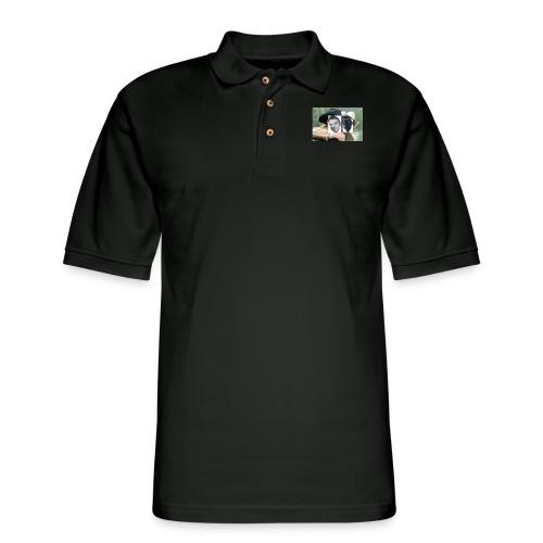 Darien and Curtis Camping Buddies - Men's Pique Polo Shirt
