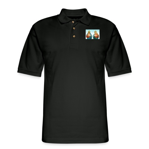 Jesus and Mary - Men's Pique Polo Shirt