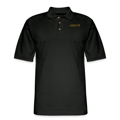 GoalGetter | Never Give Up - Men's Pique Polo Shirt