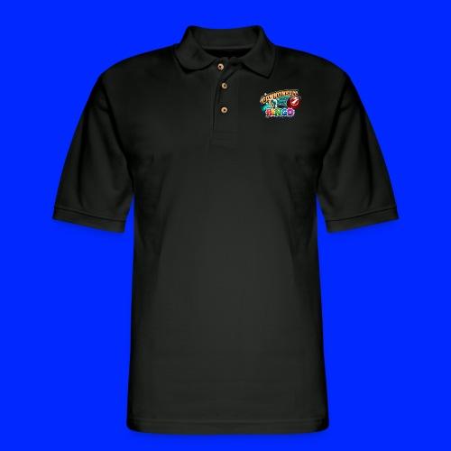 Vintage Cannonball Bingo Logo - Men's Pique Polo Shirt