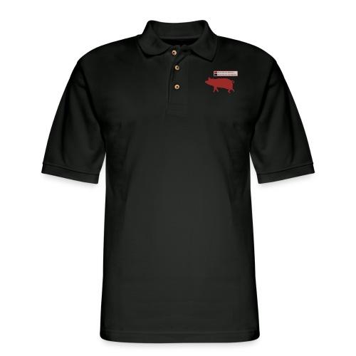Bacon Pig Pork BBQ - Men's Pique Polo Shirt