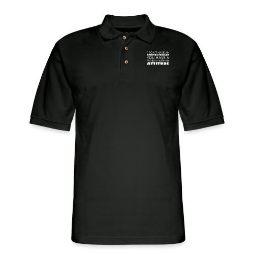 attitude - Men's Pique Polo Shirt