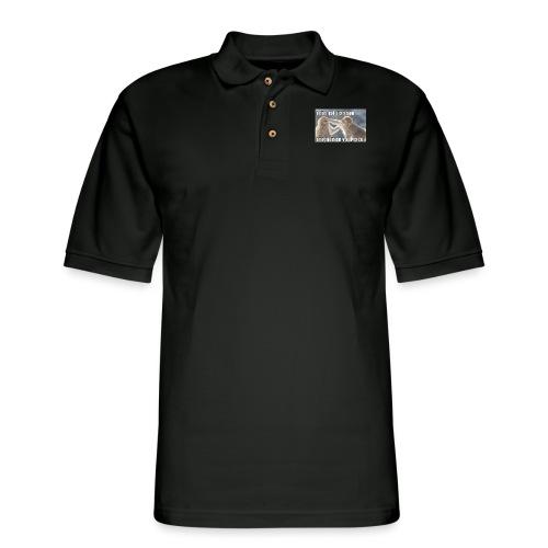 funny animal memes shirt - Men's Pique Polo Shirt