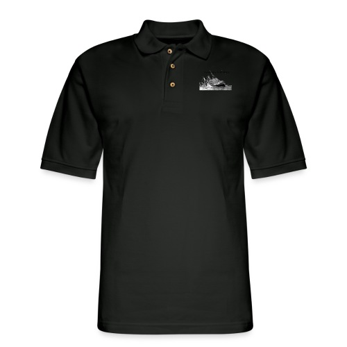 Enron Scandal Joke - Men's Pique Polo Shirt