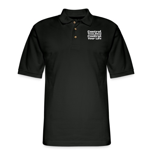 Control Your Mind To Control Your Life - White - Men's Pique Polo Shirt