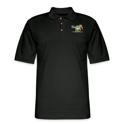 pizzasaurus - Men's Pique Polo Shirt